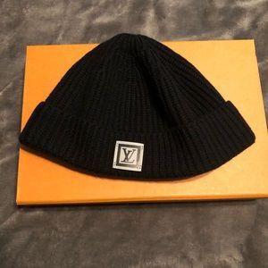 Black Louis Vuitton knitted Hipster beanie